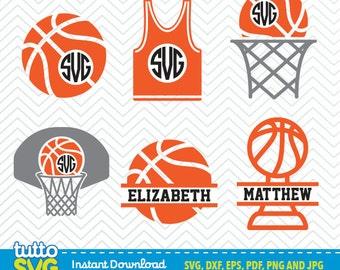BASKETBALL SVG files, Silhouette Studio, Cricut, Cameo, Embroidery, Screen Printing TT-12