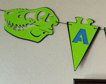 Dinosaur Birthday Banner Custom