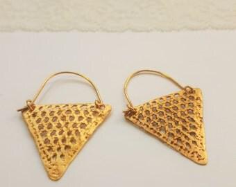 Earrings triangle (large)