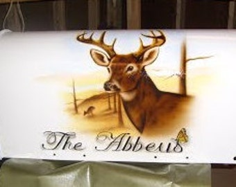 Custom airbrushed mailboxes