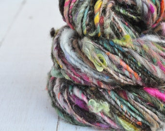 Handspun Yarn - Lovingly Spun - Bulky Single - Rustic Beauty - 68 Yards