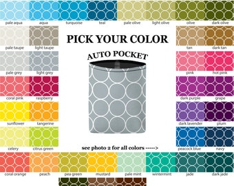Auto Pocket - Rings - PICK YOUR COLOR - Car Accessory Automobile Caddy