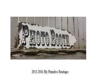 Photo Booth Sign. Wedding Sign. Photo Booth Props. Directional Signs. Rustic Wedding. Vintage Wedding. Wedding Decor. Wedding Reception.