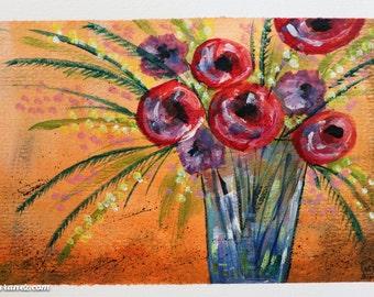 Original Artwork: Acrylic Painting - Ophelia
