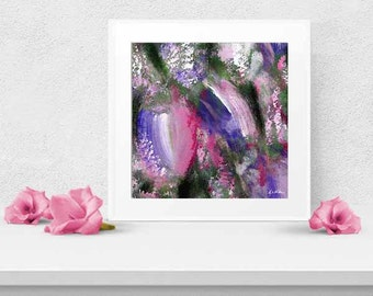 Tulips Floral Abstract Art Painting PRINT