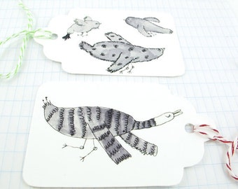 Gift Tag Kit: 6 or 12 tags to DIY- Birds