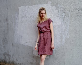 Organic Linen Riva Snap Dress