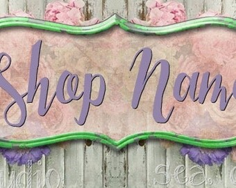 NEW Large Format Spring Song floral Etsy shop Banner graphics set by Sea Dream Studio  OOAK