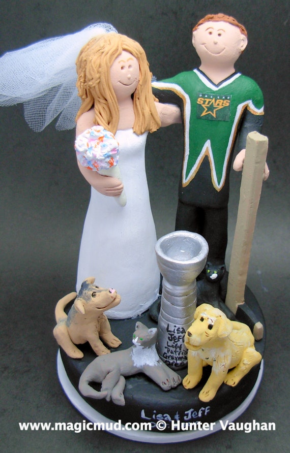 wedding cake toppers dallas tx dallas hockey wedding cake topper hockey and 26447