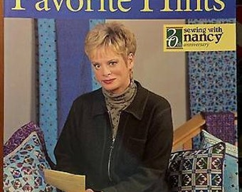 Sewing Nancy Zieman Book ~ FAVORITE HINTS 20th Anniversary Tips Techniques TV Sewing Series