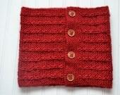 Ruby Red Cowl PDF Knitting Pattern