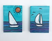 Sailboat Paintings - Pair...