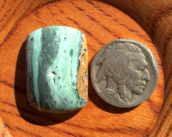 Rectangle Mystic Sage Turquoise/Variscite Cabochon