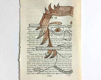 Blackout Poetry (I like your face) Original Artwork & Poem