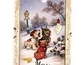 Christmas Tags , Caroling Dogs , Dog Gift Tags , Singing Dogs , Woodland Christmas , Pet Gift Tags , Dog Lovers Tags