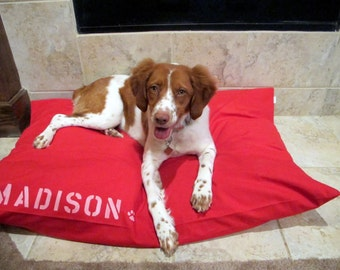 Dog Bed Cover by Bow Wow Beds, Pet Duvets, Custom Dog Beds, Designer Dog Bed, Durable Duck Canvas, Add Pet Name