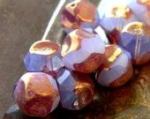 Vintage Romance (10) -Czech Glass Central Cut Rounds 9mm
