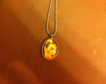 Frida Kahlo Flora Small Oval Pendant Necklace