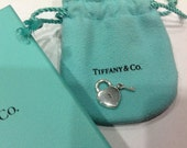 Tiffany and Co. Heart key padlock charm in Sterling Silver