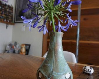 Hand thrown, ceramic,  Zombie vase/vessel