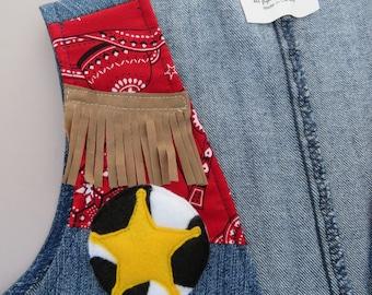Sheriff Badge - Sheriff Pin - Felt Brooch -  Cowboy Costume Accessory - Wild West Brooch - Deputy Badge