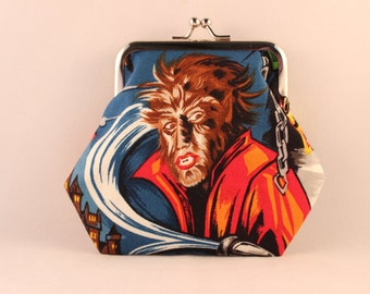 Wolfman Clasp Kisslock Change Coin Purse
