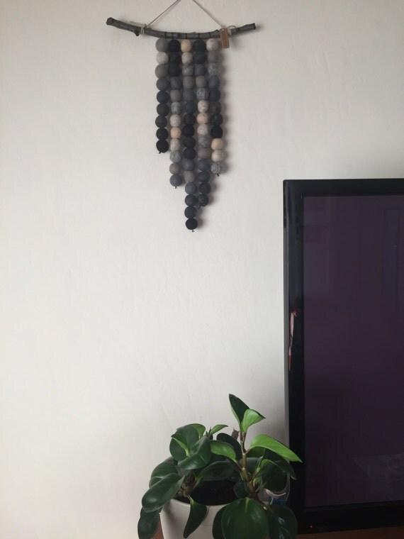Felt ball wall hanging