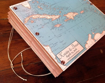 Caribbean Wedding Guest Book or Photo Album - Personalized  for You