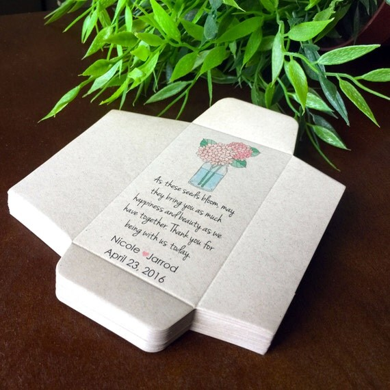Items Similar To DIY Custom Seed Packet Wedding Favors