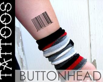 Barcode Temporary Tattoos (Set of 3)