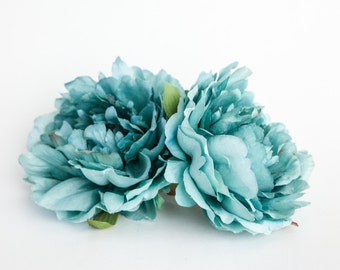 Perfect Peony in Robin Egg Blue - 5 Inches - Silk flower - Artificial Flower - ITEM 0902