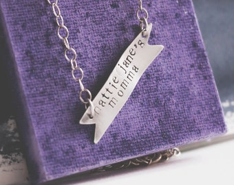 Flying Banner Necklace {Sterling Silver}