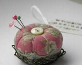 Miniature Pincushion - Filigree Rose
