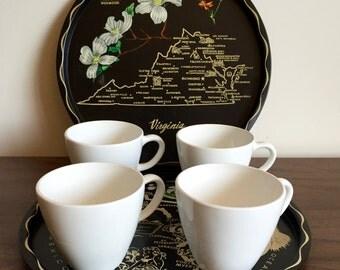 White Centura Mugs by Corning - Set of 4