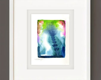 Finding Serenity No. 5 - Original Minimalist Abstract Watercolor Painting by Kathy Morton Stanion EBSQ