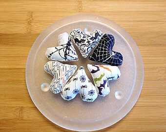 Halloween Hearts in Black and White  Bowl Filler Ornaments