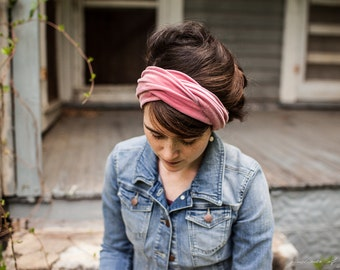 ROSE VELVET Twist stretch headband - New Garlands of Grace hair head band headwrap