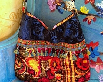 Boho Gypst Bag With Blues