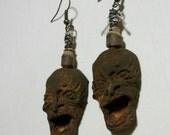 The Witch, Voodoo Mama, Rustic, Mummy, Shrunken Head, Zombie Head Earrings