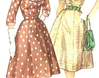 One piece dress Vintage 60s slenderette Frock sewing pattern Simplicity 3552 Bust 38 Uncut