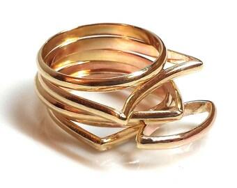 geometric rings geometric stacked rings minimalist rings abstract rings geometric jewelry