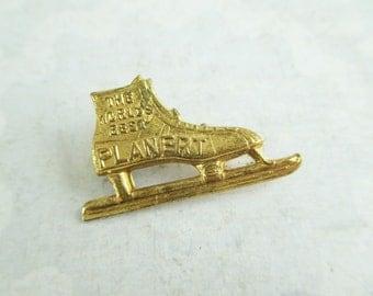 Little Vintage Ice Skate Advertising Pin - The World's Best Planert