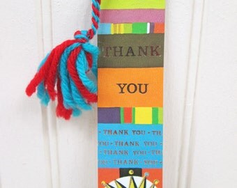 Vintage Paper Bookmark Thank You Sun Antioch Bookplate Co. # H-16 USA 1972 70s