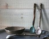 Driftwood Handle Ceramic Spoon