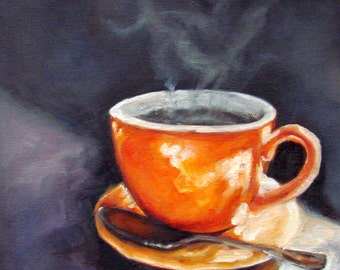 DRINK!.....Oil Painting, Vermont country art, Archival PRINT of original painting 8 by 8 or 8 by 10 with TEXT....Choice!