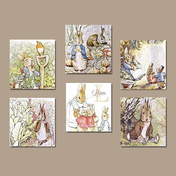 Peter Rabbit Wall Art Canvas Or Prints Peter Rabbit Nursery