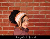 Headband, Dreads Dreadlock wrap, PEACH PIE Hippie Headband, Gypsy Clothes, Dreadband, Hair Wrap by Intergalactic Apparel