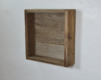 Reclaimed wood wall shelf rustic style wall decor