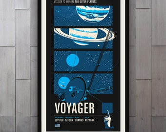 Voyager - Robotic Spacecraft Print Series