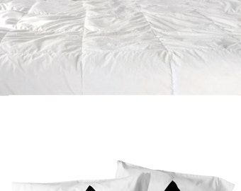 Gift for Couples, Pyramid Pillowcase Set of 2 : dorm decor modern minimal home decor, geometric pillow cases, couples gift, triangle pillows